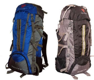 Buy Gleam 2209 Climate Proof Mountain Campaign / Hiking / Trekking Bag / Backpack 75 ltrs Black & Grey with RAIN COVER Rucksack- 75 L @ Rs 699 Only Fr