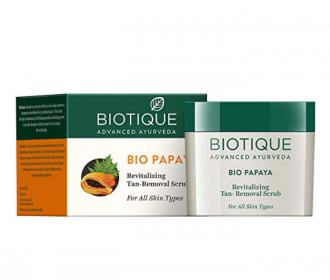 Buy Biotique Bio Papaya Revitalizing Tan-Removal Scrub, 235g at Rs 199 only from Amazon