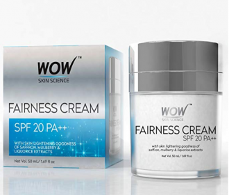 Buy WOW Fairness SPF 20 PA++ No Parabens & Mineral Oil Cream, 50mL at Rs 299 from Amazon