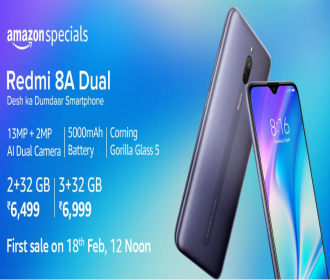 Buy Xiaomi Redmi 8A Dual Amazon Price Rs 7499: Next Sale Date 18th Feb 2020 @12PM, Specifications, Buy Online In India, Extra Bank offers