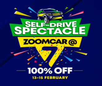 Zoomcar Coupons and Offers: FLAT 50% Instant Discount + FLAT 50% Cashback on Zoomcar Bookings, extra Cashback Via Card and wallet Payments