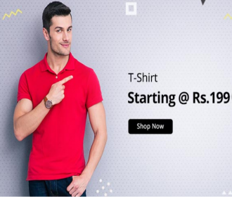 Buy Men's Summer Tees Apparel t-shirt on Shopclues at Rs 199
