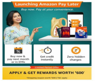 Amazon Buy Now Pay Later Offers: Apply Amazon Pay Later and Get Rs 250 Cashback on Amazon