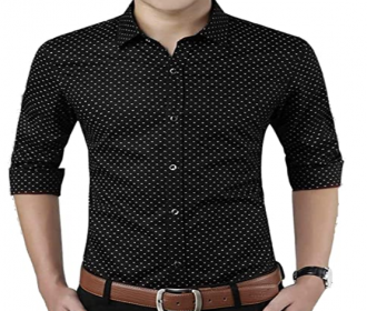 Buy Polka Print Dotted Cotton Shirts for Men for Formal Wear,100% Cotton Shirts at Rs 299 Only from Amazon