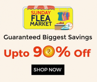 Upto 90% OFF in Shopclues Sunday Flea Market Offers- June 2021, Extra Cashback