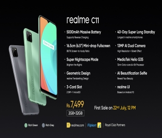 Realme C11 Flipkart Price Rs 7499, Launch Date, Next Sale Date 16th September @12PM, Specifications