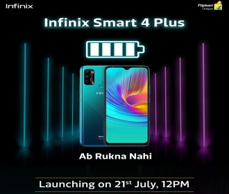 Infinix Smart 4 Plus Specifications, Flipkart Price, Launch Date 21st July @12PM, First Sale 28th July @12PM