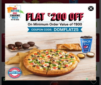 Domino's pizza Coupons & offers: Get 2 Regular Pizzas starting just at Rs 99 Each