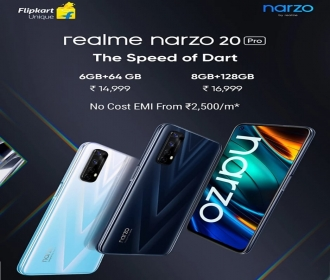 Buy Realme Narzo 20 Pro (64 GB, 6 GB RAM) Flipkart Price at Rs 13999, Specifications & Buy Online In India