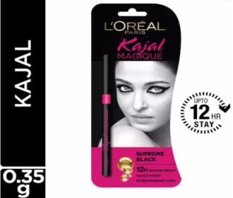 Buy L'Oreal Paris Kajal Magique (Supreme Black, 0.35 g) at Rs 177 Only from Flipkart