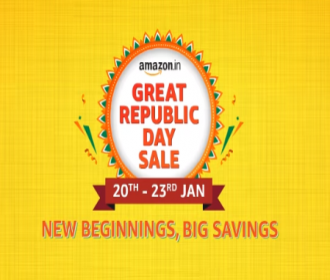 Amazon Great Republic Day Sale 2021 Offers: Upto 80% OFF On Mobiles, Clothing, Electronics, TV & Appliances, Extra 10% SBI Bank Discount