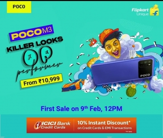 Buy Poco M3 Flipkart Price at Rs 10,999 only. Next Sale on 23rd February 2021 @12PM, Specifications