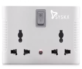 Buy Syska SSK-MPS-0401 6 A Three Pin Socket 4 Way Power Plug Adapter from Flipkart at Rs 199 only
