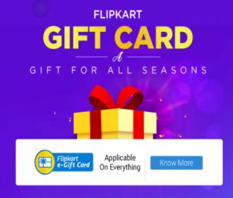 Flipkart Gift Vouchers Cashback Offers: Buy Flipkart Gift Card & Get 5% Cashback on Home and Kitchen Appliances Purchase for 12 months