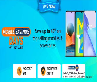 Amazon Mobile Savings Days Discount Offers: Save Upto 40% OFF on Top Selling Mobiles and Accessories, Extra 10% SBI Bank Discount