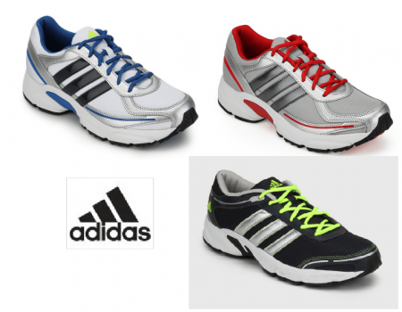 Buy ADIDAS Men's Sports Shoes at Minimum 45% off + Extra 10% OFF Jabong