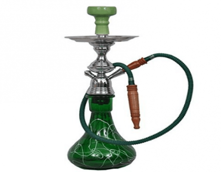 Buy Basement Bazaar Abu Glass Hookah (56 cm, Green) at Rs 810 Only
