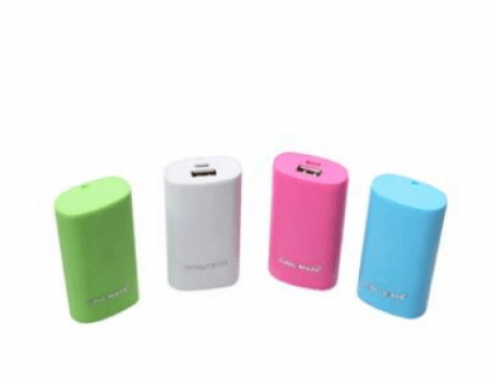 Buy Callmate Power Bank Round Candy 5200 mah - Assorted Color at Rs 194 Only