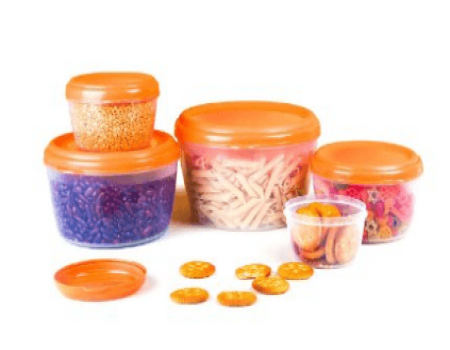 Buy Cello Fabby Container Set, 5-Pieces, Orange at Rs 232 Only