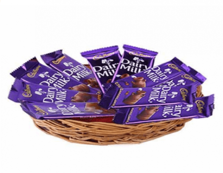 Buy Dairy Milk Basket Hamper from Amazon at Rs 369 Only