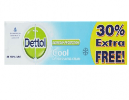 Buy Dettol Shaving Cool Cream - 60g + 18 g at Rs 26 Only