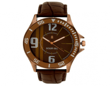 Buy Golden Bell Brown Bezel Broad Watch At Rs 359 Only