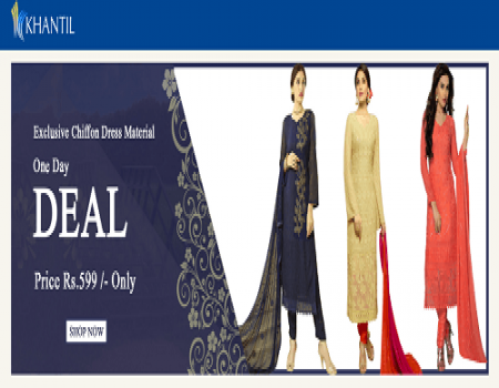 Khantil Coupons & Offers - Flat 70% Off On Women's Top - May 2018