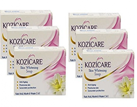 Buy Kozicare Skin Whitening Soap 75g (Pack of 6) at Rs 220 Amazon