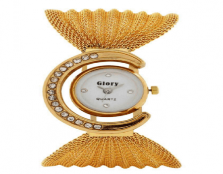 Buy GLORY GOLDEN FANCY JAAL LADIES WATCH at Rs 176 Only