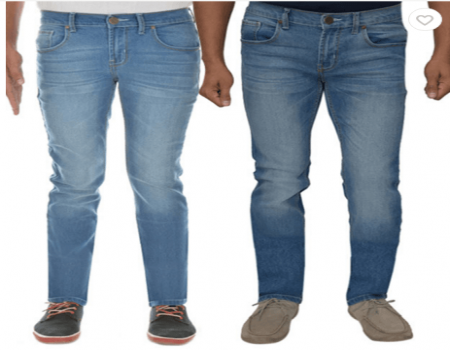 London Slim Fit Stretchable Jeans Pack Of 2 at Rs 899 Only