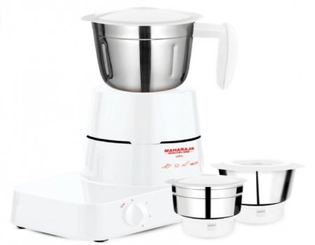 Buy Maharaja Whiteline Alfa Mixer Grinder MX-153 500-Watt White at Rs 1,999 Only From Amazon