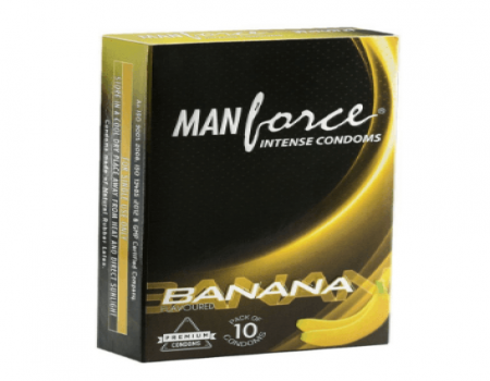 Buy Manforce Intense Banana Flavour Condoms (Pack of 10) At Rs 69 Only From Snapdeal