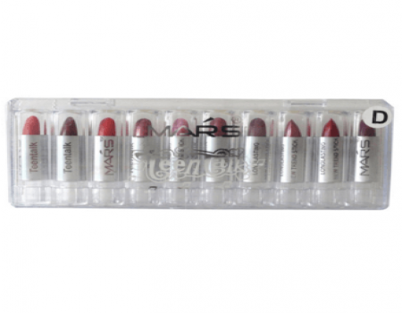 Buy Mars Mini Lipstick Drop Lip Color D Set Of 10 at Rs 179 Only