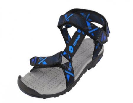Buy Men's Sandal Zack Black Blue At Rs 499 Only