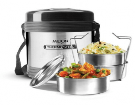 Buy Milton Legend 3 Container Tiffin - Steel Plain 240ml at Rs 487 Only