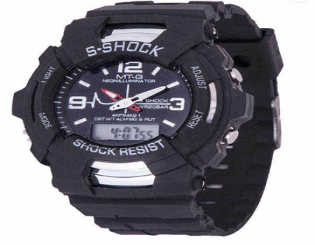 Buy Mt-G Black Round Pu Strap Analog-Digital Watch at Rs 119 Only