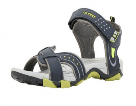 Buy Lotto Mens Sandals Mustafa Grey and Lime at Rs 499 Only