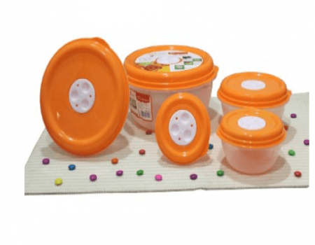 Buy Princeware Fresh Ven Bowl Package Container Set, 5-Pieces, Orange at Rs 163 Only