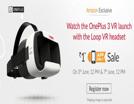 Register To Buy One Plus 3 Loop VR Headset at Rs 1 On Amazon App