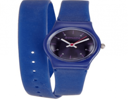 Buy Sonata Analog Blue Dial Womens Watch at Rs 266 Only