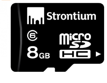 Buy Strontium 8GB MicroSDHC Class 6 Memory Card at Rs 110 Only