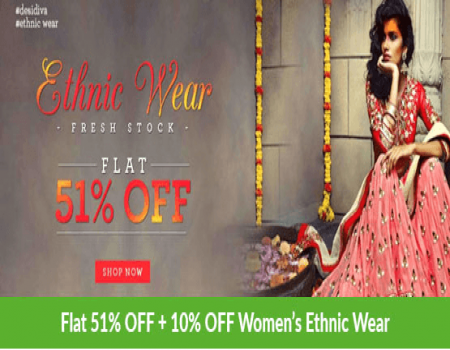 Styletag Coupons Offers : Flat 70% Off On Online shopping Ethnic Dresses & Kurtas May 2018