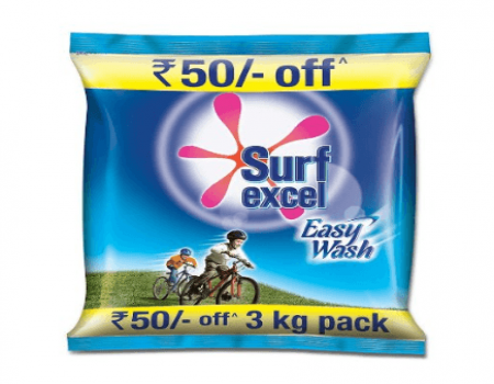 Buy Surf Excel Easy Wash Detergent Powder, 3 kg at Rs 360 Only On Amazon