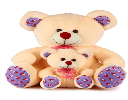 Buy Cream Mother Teddy Bear With Baby - 45 cm From Snapdeal At Rs 503 Only Selling Price RS. 1299