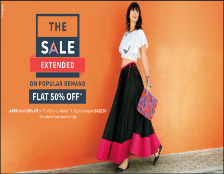 AJIO Coupons & Offers- Flat Rs 500 OFF On Order of Rs 999 & Above On Ajio