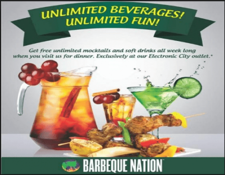 Barbeque Nation Coupons & App Offers - Get Lunch and Dinner Buffet starting just at Rs 519 only at Barbeque Nation