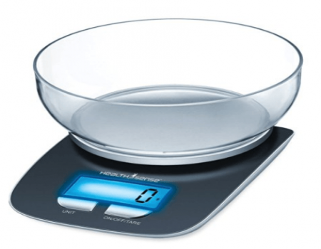 Buy Health Sense Chef-Mate Digital Kitchen Scale from Amazon at Rs 899 Only