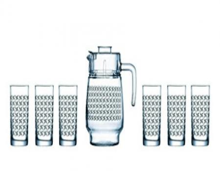 Buy Luminarc Aldwin Amsterdam Tivoli Drink Set, 7 Pieces Rs 613 from Amazon