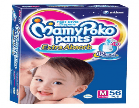 Buy Mamy Poko Medium Size Baby Diapers from Amazon at Rs 503 Only