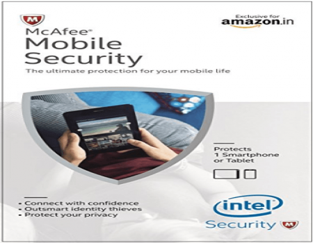 Buy McAfee Mobile Security 1 Device, 1 Year- Product Key just at Rs 86 only From Amazon